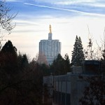 We are located down the block from the Oregon State Capitol